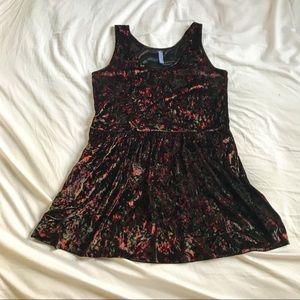 Free People Velvet Floral Jumper Style Mini Dress